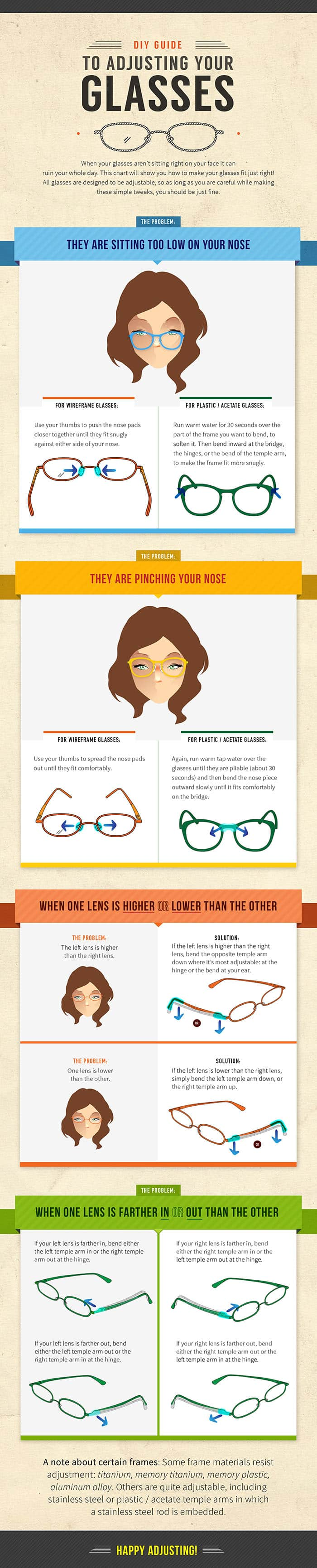 How to adjust your glasses? - Infographic
