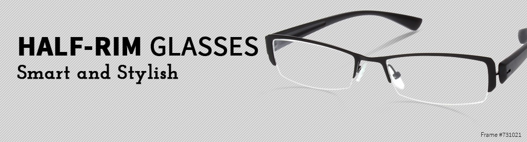 Half-Rim Glasses, Smart and Stylish, frame #731021