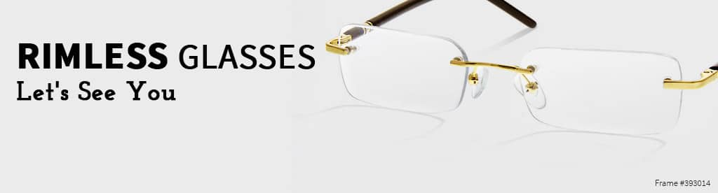 Rimless Glasses, frame #393014