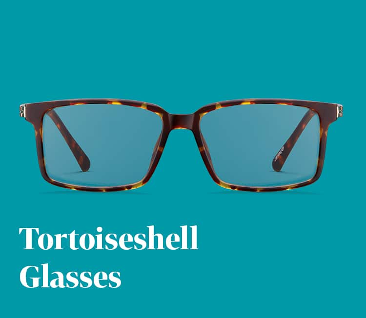 Tortoiseshell Rectangle Glasses #2020025