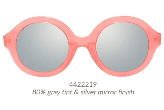 Chunky round Pico sunglasses from Zenni's LA Collection in vibrant pink. Frame #4422219.