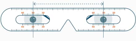 (PD) is the measurement of the distance between your pupils infographic