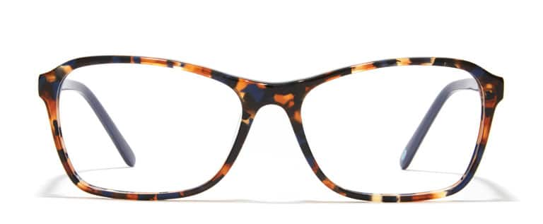 current eyeglass styles nlvl  Tortoiseshell square glasses #4420425 with blue temple arms from the  Sophisticated Eyewear for Her line