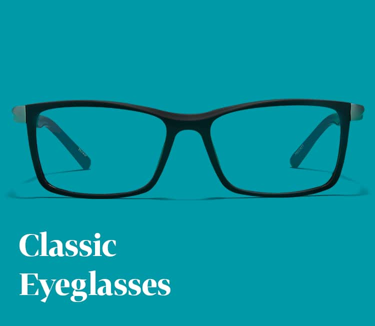 Shop eyeglasses for men and women with classic shapes and colors.