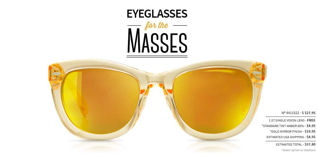 Eyeglasses For The Masses. Frame #4411522