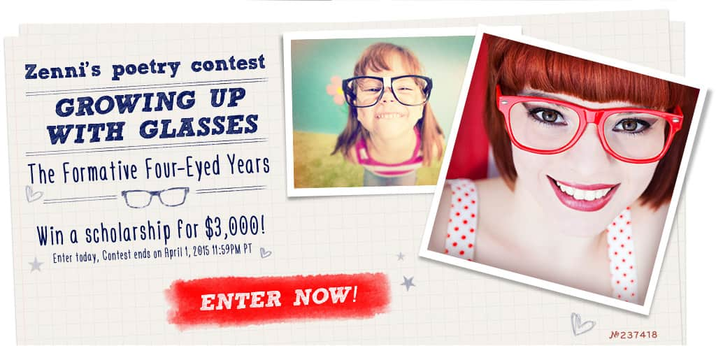Zenni's Poetry Contest. Growing Up With Glasses. The Formative Four-Eyed Years.
