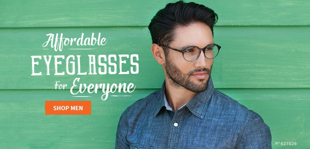 Shop affordable eyeglasses for men