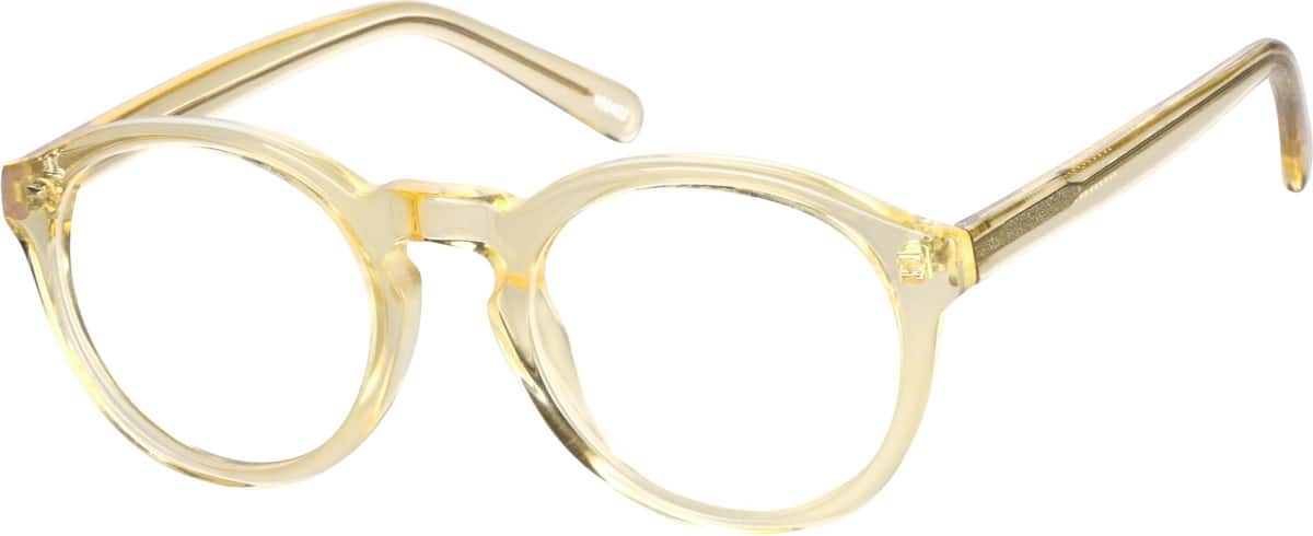 yellow acetate eyeglasses 1004 zenni optical