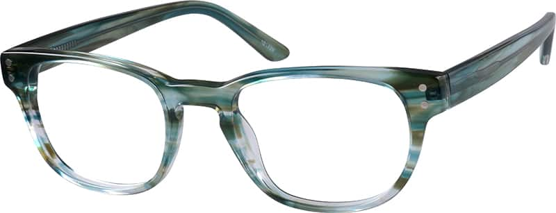 Marbled Oval Eyeglasses
