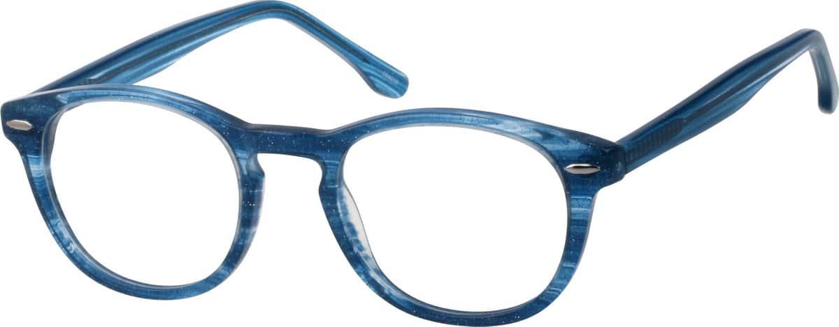 Blue Round Acetate Eyeglasses #1046 Zenni Optical Eyeglasses