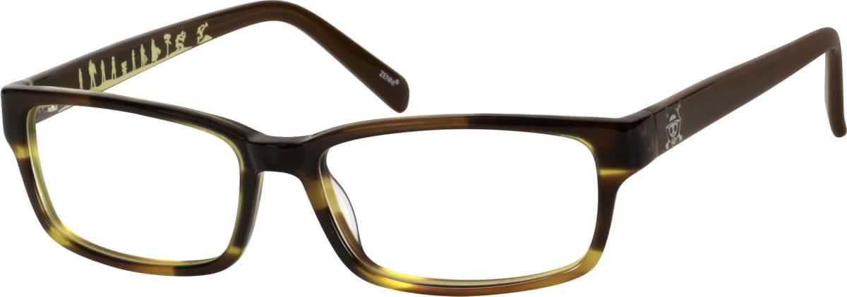 Quirky Eyeglass Frames : Green Quirky Rectangular Eyeglasses #1056 Zenni Optical ...