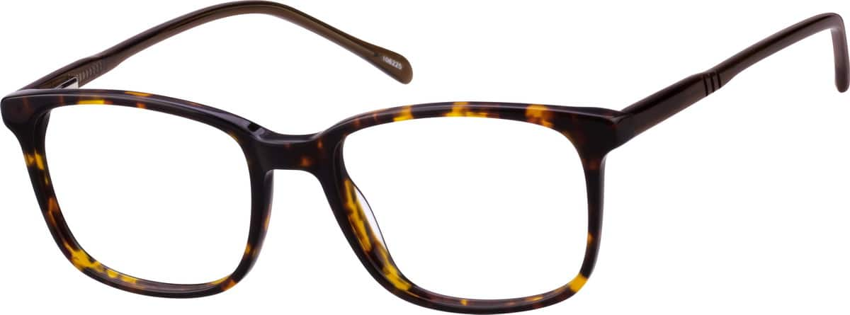 Men's Tortoiseshell Square Eyeglasses