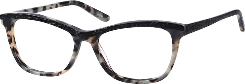 Zenni Black Acetate Full-Rim Frame with Spring Hinges