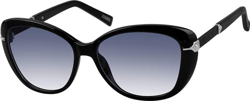 Black Premium Oval Sunglasses #1119