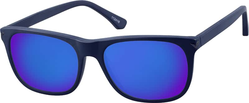 square sunglasses  Blue La Brea Square Sunglasses #1124