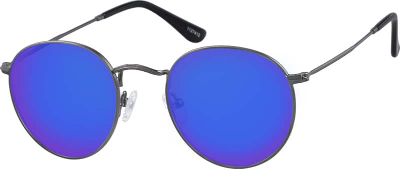 UnisexFull RimStainless SteelEyeglasses #1127412