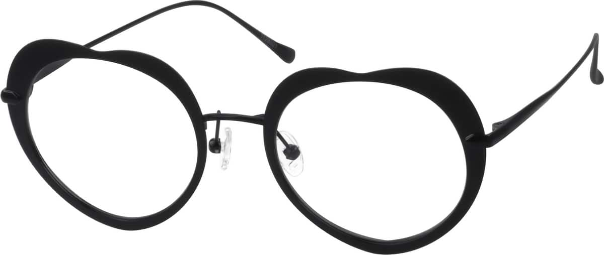 Unisex Full Rim Stainless Steel Eyeglasses #1128019