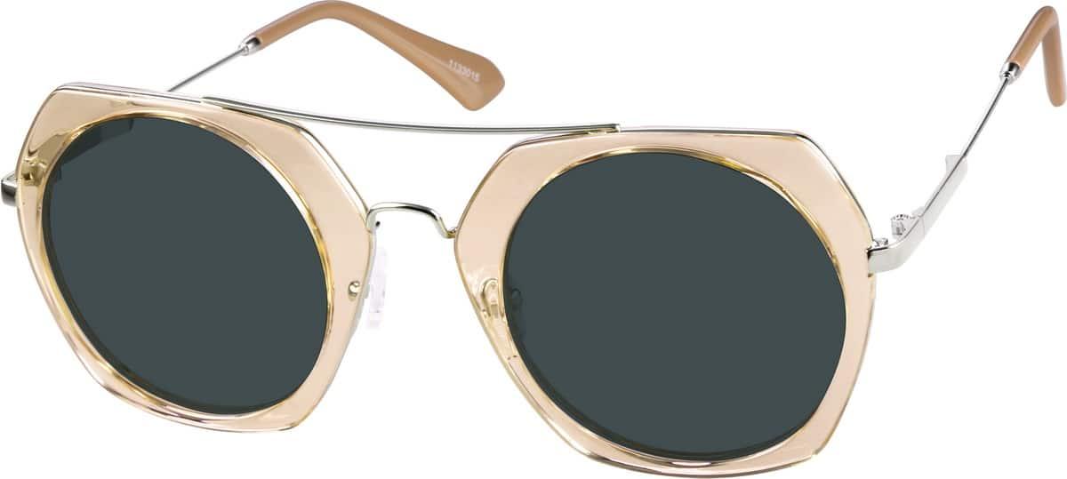 WomenFull RimMixed MaterialsEyeglasses #1133019