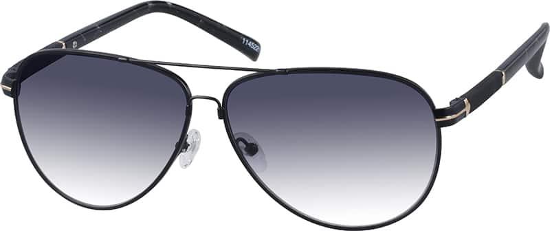 Zenni Optical Aviator Glasses : Black Premium Aviator Sunglasses #11452 Zenni Optical ...