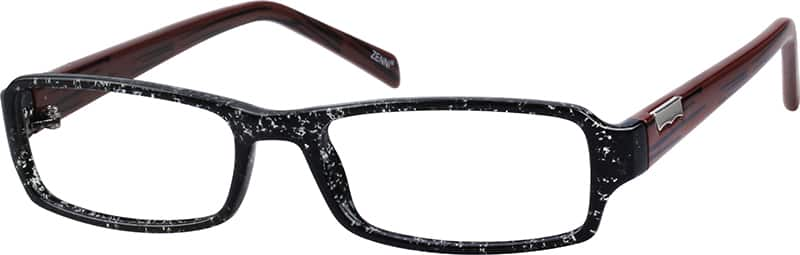 unisex-rectangular-plastic-full-rim-eyeglass-frame-with-metal-ornament-120321