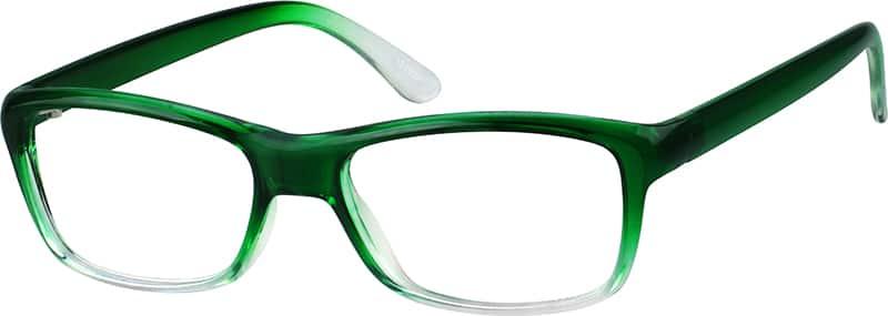 Green Eyeglass Frames Plastic : Green Plastic Full-Rim Frame #1219 Zenni Optical Eyeglasses
