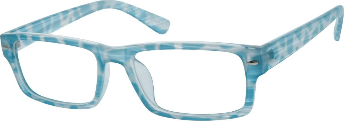Blue Rectangle Acetate Eyeglasses #1221 Zenni Optical ...