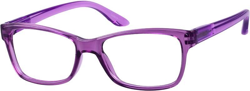 Eyeglasses Frames Purple : Purple Women s Translucent Square Eyeglasses #1225 Zenni ...