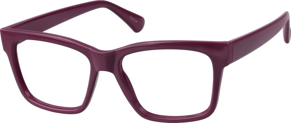 Women's Plum Square Eyeglasses