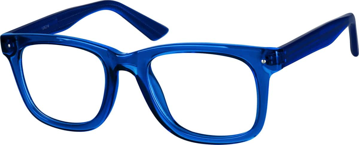 Zenni Optical Blue Glasses : Blue Square Eyeglasses #1252 Zenni Optical Eyeglasses