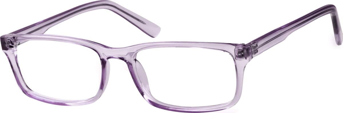 Translucent Rectangular Eyeglasses