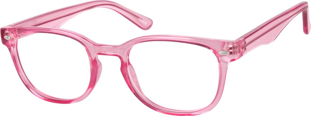 Women's Pink Square Eyeglasses