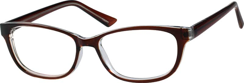 Zenni Brown Womens Oval Eyeglasses