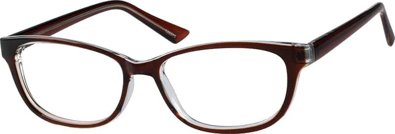 Zenni Brown Womens Oval Eyeglasses