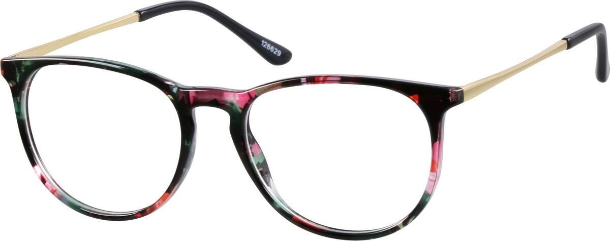 ladies glasses frames vcdv  Women's Floral Tortoiseshell Round Eyeglasses