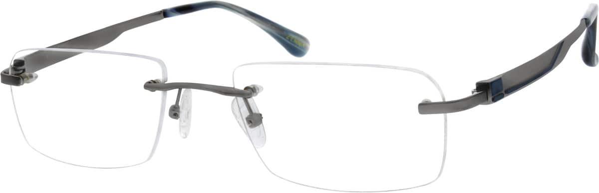 MenRimlessTitaniumEyeglasses #130012