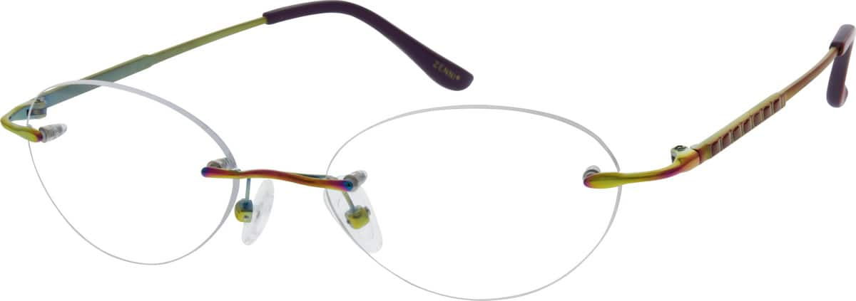 Women Rimless Titanium Eyeglasses #130119