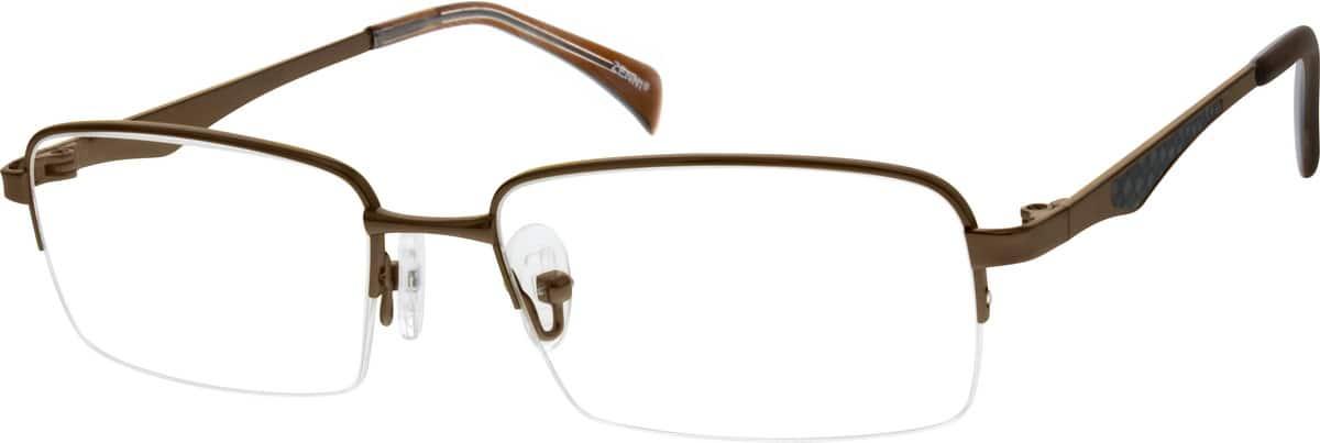 MenHalf RimTitaniumEyeglasses #130515