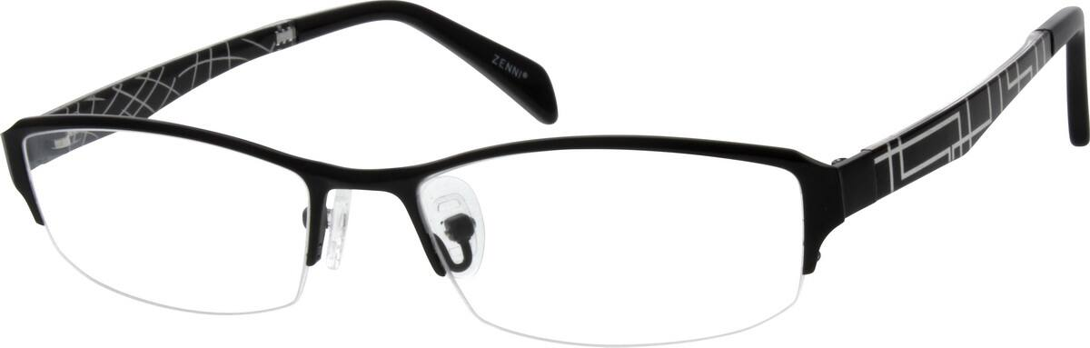 WomenHalf RimMixed MaterialsEyeglasses #130718
