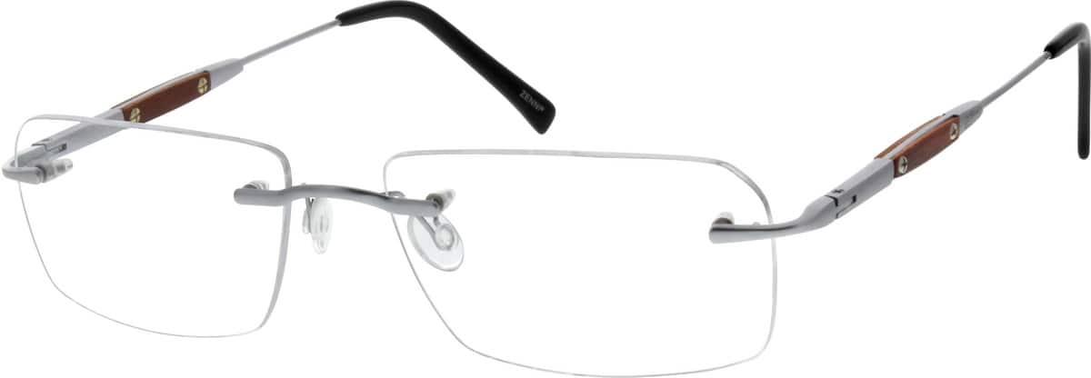 Men Rimless Titanium Eyeglasses #131111