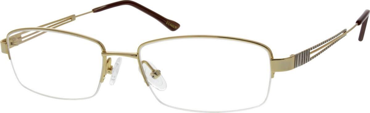 MenHalf RimTitaniumEyeglasses #131314