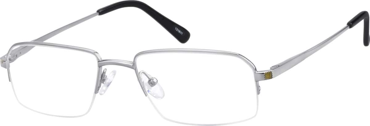 mens-pure-titanium-half-rim-rectangle-eyeglass-frame-131611