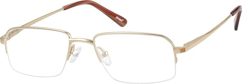 mens-pure-titanium-half-rim-rectangle-eyeglass-frame-131614