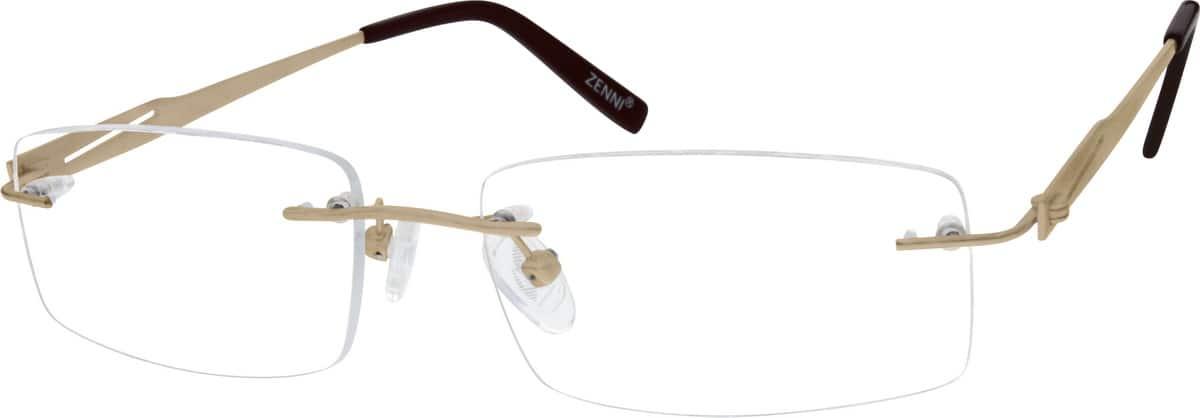 Gold Rimless Titanium Frame 1318 Zenni Optical Eyeglasses