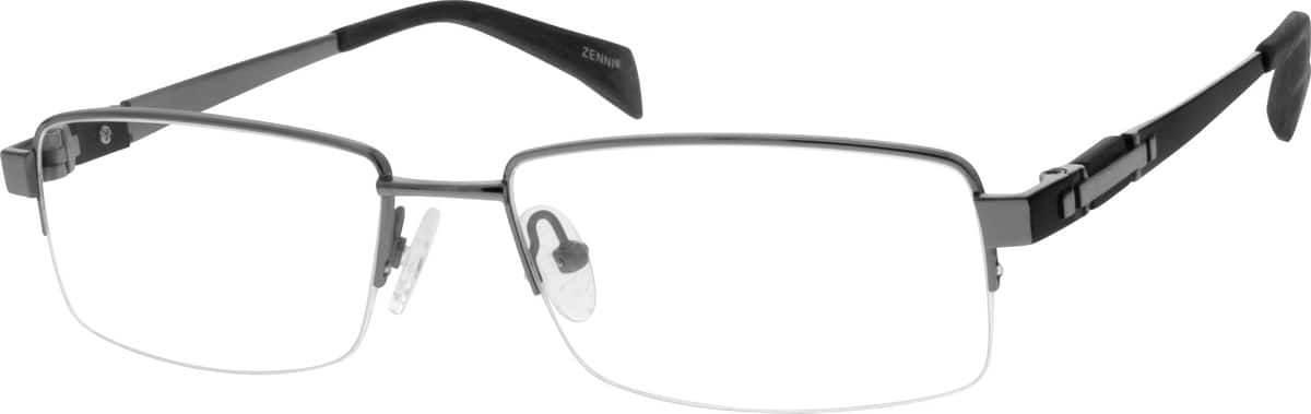 MenHalf RimTitaniumEyeglasses #131914