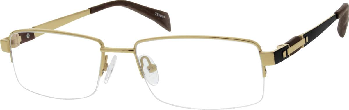 MenHalf RimTitaniumEyeglasses #131912