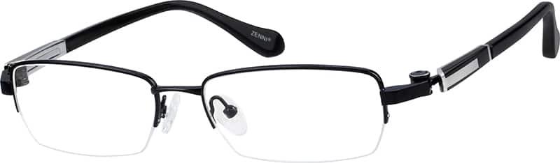 MenHalf RimTitaniumEyeglasses #132014