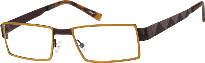 Brown Pure Titanium Full-Rim Frame #1325 | Zenni Optical Eyeglasses