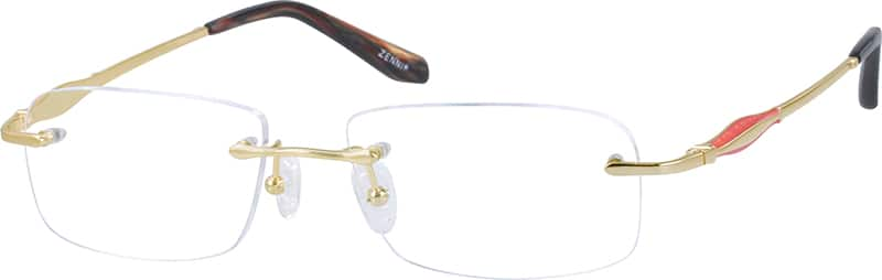 WomenRimlessTitaniumEyeglasses #132617