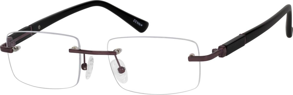 Zenni Optical Mens Rimless Glasses : Brown Rimless Titanium Frame #1328 Zenni Optical Eyeglasses