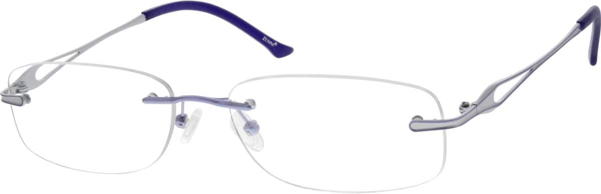 Women Rimless Titanium Eyeglasses #133117